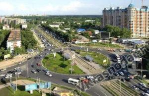 Восточная часть города Краснодара