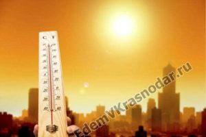 в Краснодаре летом очень жарко. Температура воздуха летом в Краснодаре