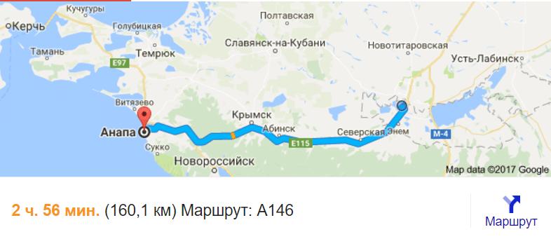 Анапа или Краснодар где лучше жить, расстояние от Краснодара до Анапы