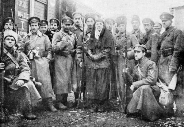 Пехотная рота Добровольческой армии, сформированная из гвардейских офицеров. Январь 1918